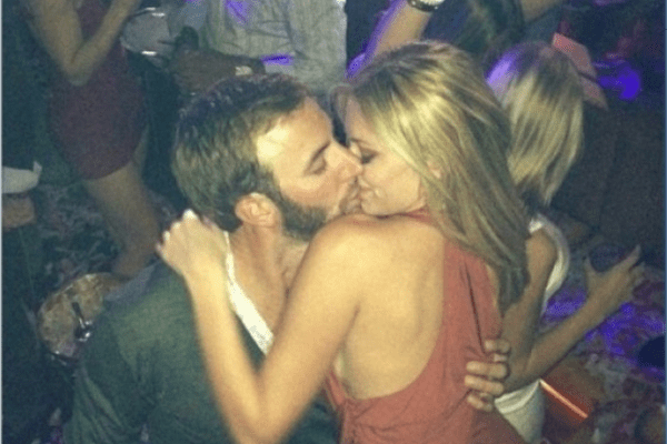 paulina-gretzky-dustin-johnson-kiss