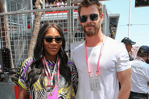 Serena Williams sports pregnant belly in a Zebra Print Maternity Wear at Monaco Grand Prix