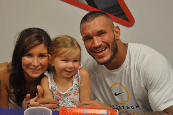 Samantha with ex-husband Orton and daughter