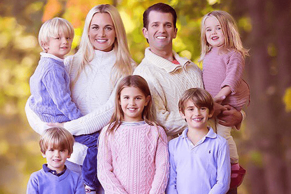 Donald Trump Jr. and wife Vanessa with kids