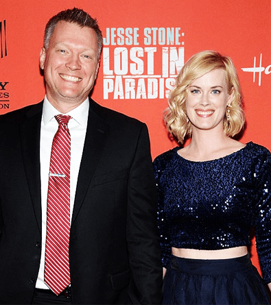 Abigail Hawk and her Husband Brian Spies