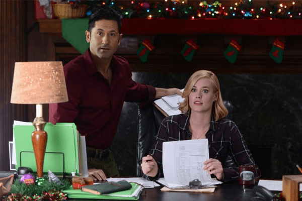 Abigail hawk in a Christmas in Vermont