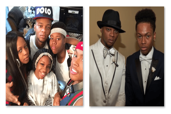 Papoose with his family.