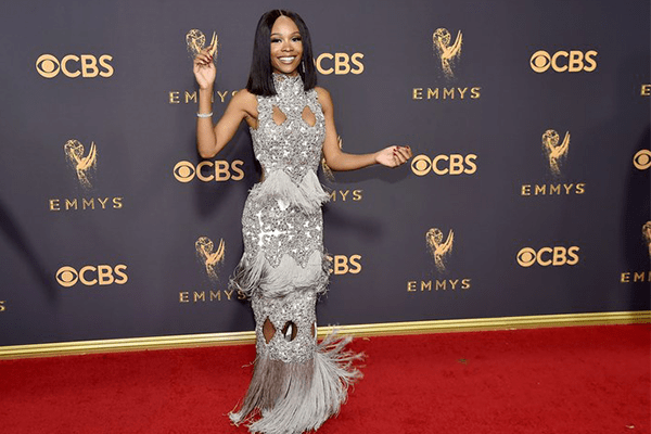 A picture of Zuri Hall at the Emmy awards