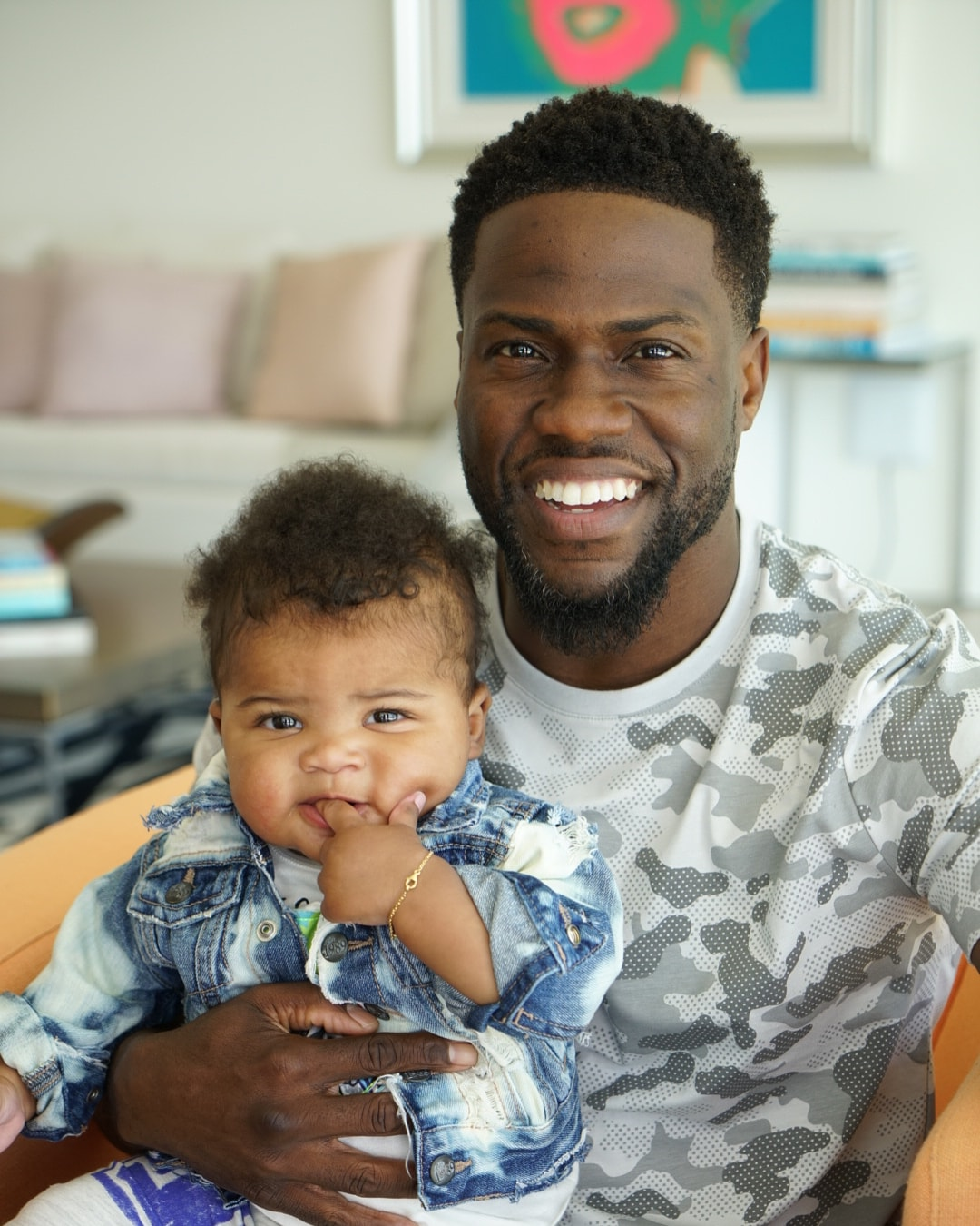 Kevin Hart with his son Kenzo Kash Hart
