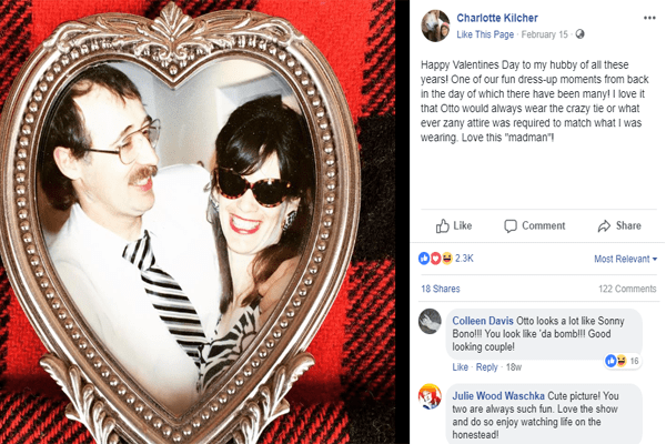 Otto Kilcher and his wife Charlotte Kilcher on Valentines day