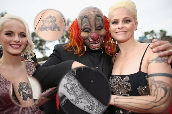"Slipknot's ""Clown"" Shawn Crahan's Wife Chantel Crahan's Tattoos and It's Meaning"