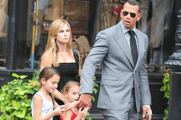 Cynthia Scurtis Family with ex-husband Alex Rodriguez and daughters