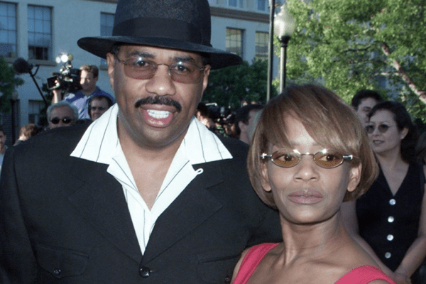Steve Harvey and his ex-wife Mary Lee Harvey who sued him for $60 million for soul murdering.