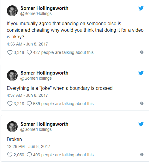 Tana Mongeau's ex-boyriend Somer Hollingsworth break up over Twitter