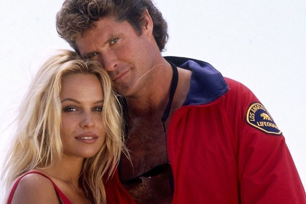 Pamela Anderson and David Hasselhoff