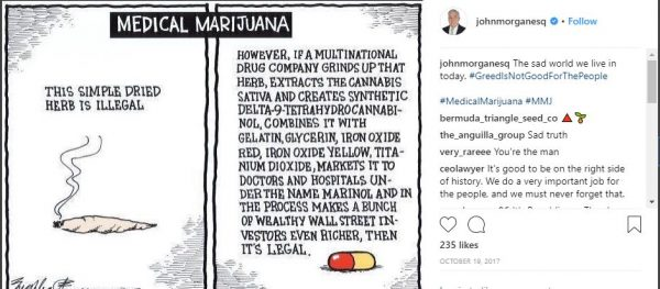 Rich John Morgan medical marijuana