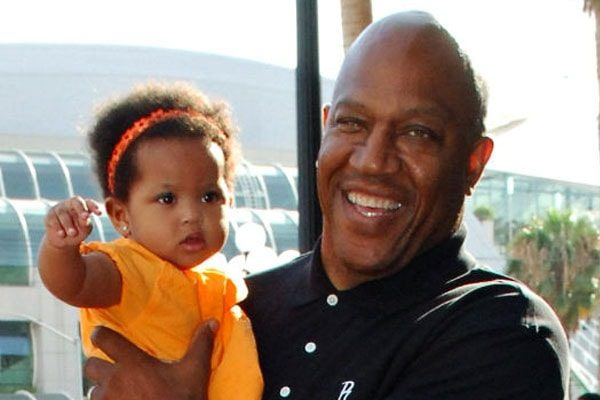 Tommy 'Tiny' Lister with his daughter, Faith.