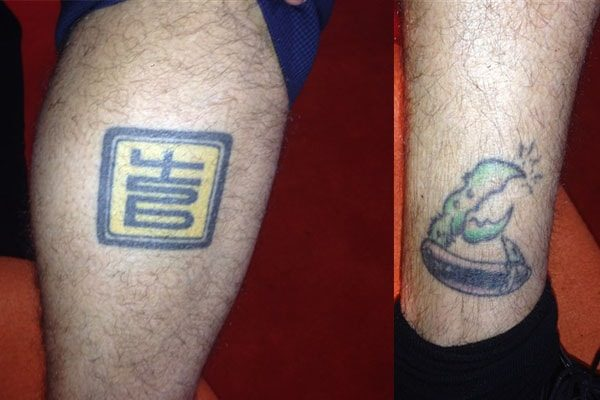 Carson Daly tattooed a logo which reads 456 and Crab
