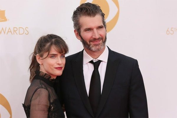 Amanda Peet with Husband David Benioff