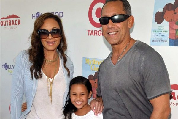 Angelo Pagan and Leah Remini With their beautiful daughter Sofia Bella
