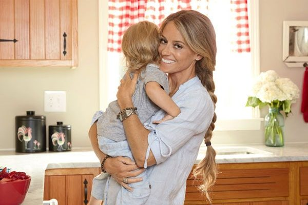 Nicole happy with her younger son Harper
