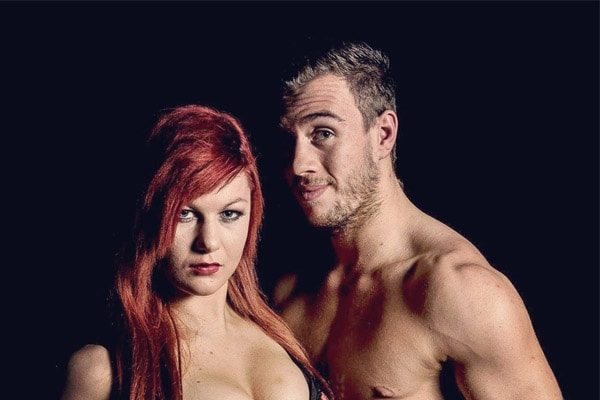 Will Ospreay's with his wife Bea Priestley.