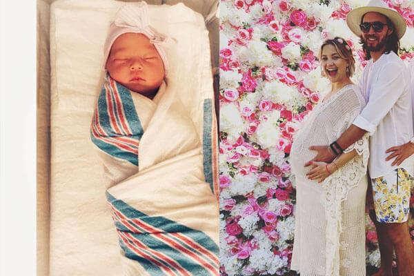Kate Hudson's daughter Rani is really a little rosebud. Kate shares her baby girl's first adorable photo.