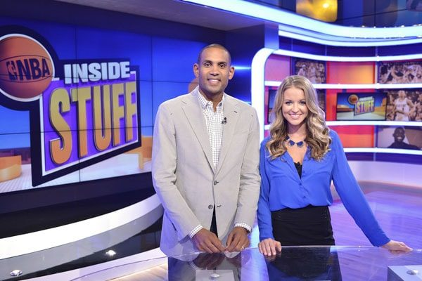 Kristen Ledlow hosting the show, Inside Stuff