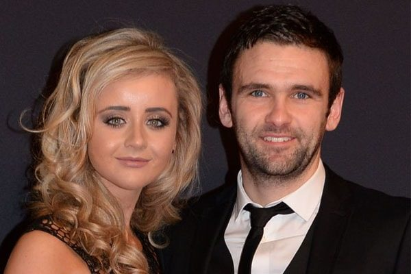 William Dunlop with his partner, Janine.