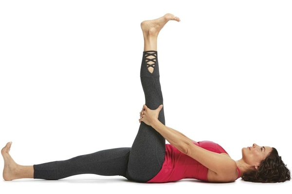 Reclining Hand-to-Big-Toe Pose I (Supta Padangusthasana I)