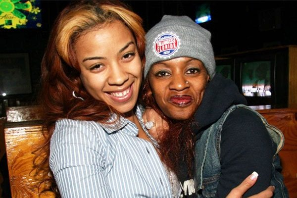 Singer Keyshia Cole With her birth mother Francine Lons