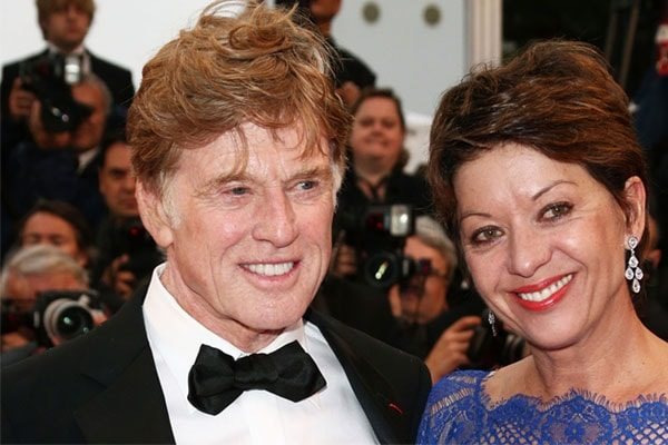 Sibylle Szaggars wedding with Robert Redford.