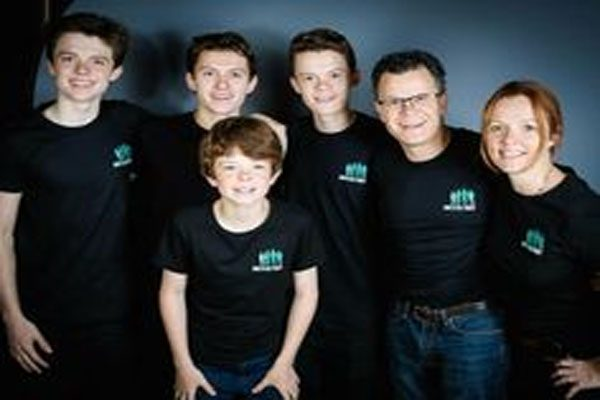 Tom Holland and his family