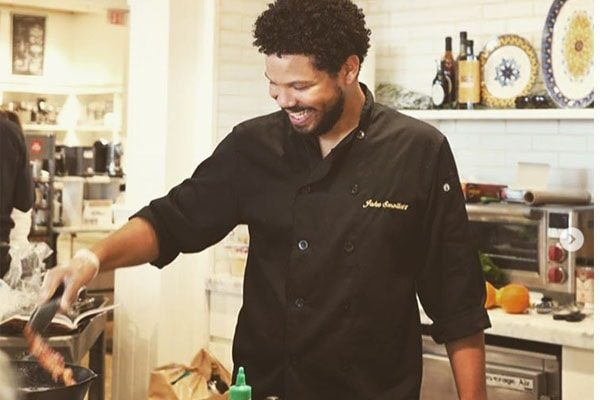 Culinary entertainer Jake Smollett