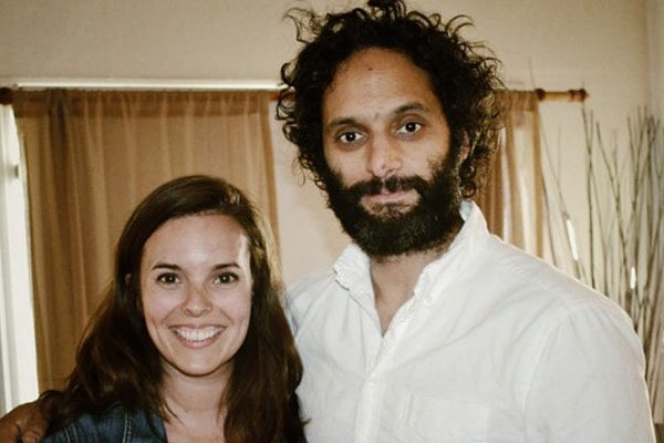 Jason Mantzoukas with wife