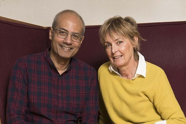George Alagiah and Frances are married