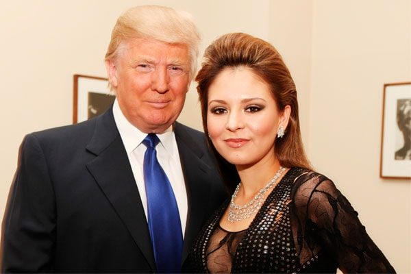 Pianist Lola Astanova with Donald Trump