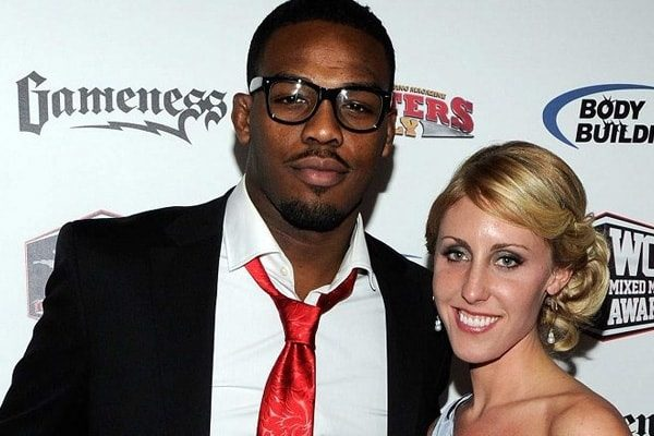 Jon Jones and his Fiance Jessie Moses