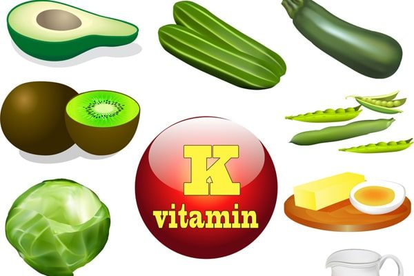 vitamin k in fruits and vegetables