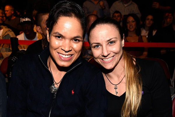 Amanda Nunes and Nina Ansaroff's relationship