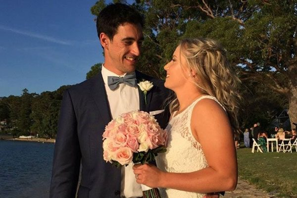 Mitchell Starc and Alyssa Healy's wedding