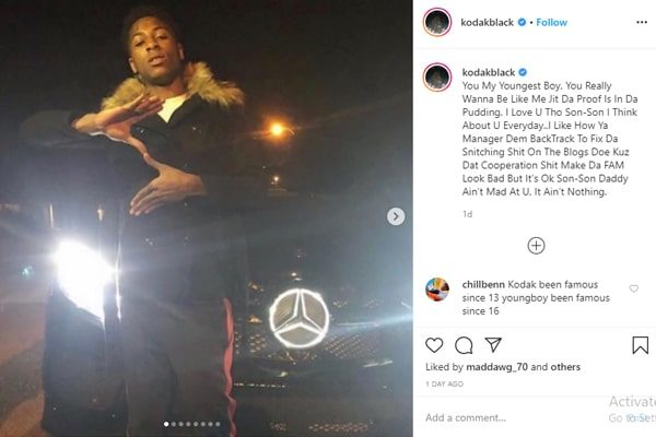 Kodak and YoungBoy's screen fight